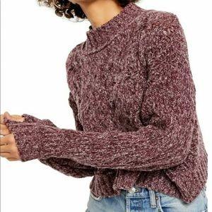 Free People Long Sleeve Mock Sweater, SZ Large, NWT